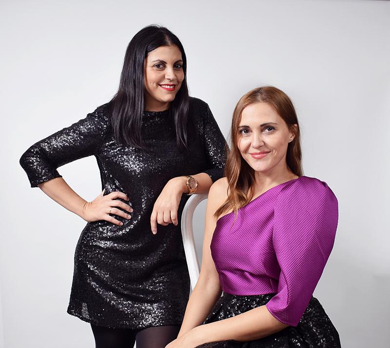 Las hermanas Filgueira posando en la foto