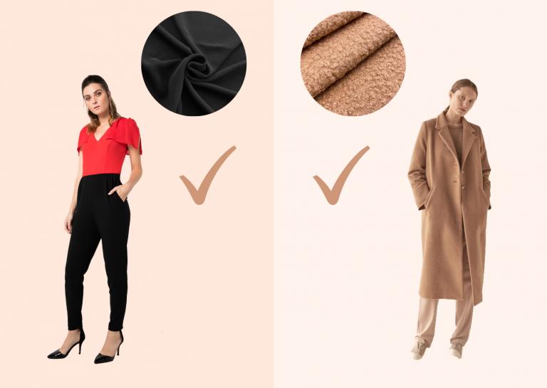 foto de un pantalon y un abrigo